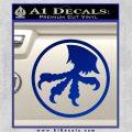 Microtech Knives Logo Decal Sticker Blue Vinyl 120x120