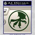 Microtech Knives Logo Decal Sticker Dark Green Vinyl 120x120