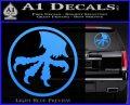 Microtech Knives Logo Decal Sticker Light Blue Vinyl 120x97
