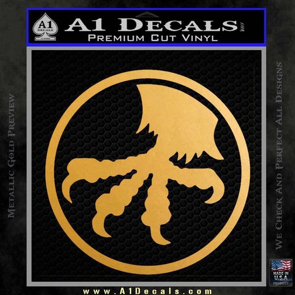 Microtech Knives Logo Decal Sticker Metallic Gold Vinyl