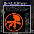 Microtech Knives Logo Decal Sticker Orange Vinyl Emblem 120x120