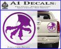 Microtech Knives Logo Decal Sticker Purple Vinyl 120x97