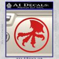Microtech Knives Logo Decal Sticker Red Vinyl 120x120