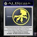 Microtech Knives Logo Decal Sticker Yelllow Vinyl 120x120