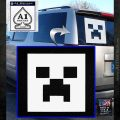 Mindcraft Creeper Decal Sticker DZA White Emblem 120x120