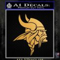 Minnesota Vikings NFL Logo Decal Sticker Metallic Gold Vinyl 120x120