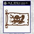 Molly Roger Pirate Flag INT Decal Sticker Brown Vinyl 120x120