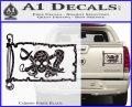 Molly Roger Pirate Flag INT Decal Sticker Carbon Fiber Black 120x97