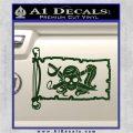 Molly Roger Pirate Flag INT Decal Sticker Dark Green Vinyl 120x120
