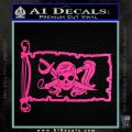 Molly Roger Pirate Flag INT Decal Sticker Hot Pink Vinyl 120x120