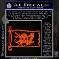 Molly Roger Pirate Flag INT Decal Sticker Orange Vinyl Emblem 120x120