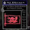 Molly Roger Pirate Flag INT Decal Sticker Pink Vinyl Emblem 120x120