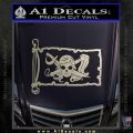Molly Roger Pirate Flag INT Decal Sticker Silver Vinyl 120x120