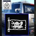 Molly Roger Pirate Flag INT Decal Sticker White Emblem 120x120