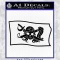 Molly Roger Pirate Flag SL Decal Sticker Black Logo Emblem 120x120