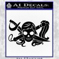 Molly Roger Whip Sword Crossbones Decal Sticker Black Logo Emblem 120x120