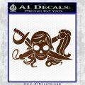 Molly Roger Whip Sword Crossbones Decal Sticker Brown Vinyl 120x120