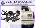 Molly Roger Whip Sword Crossbones Decal Sticker Carbon Fiber Black 120x97