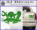 Molly Roger Whip Sword Crossbones Decal Sticker Green Vinyl 120x97