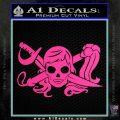 Molly Roger Whip Sword Crossbones Decal Sticker Hot Pink Vinyl 120x120