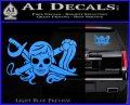 Molly Roger Whip Sword Crossbones Decal Sticker Light Blue Vinyl 120x97
