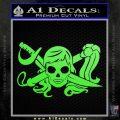 Molly Roger Whip Sword Crossbones Decal Sticker Lime Green Vinyl 120x120