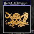 Molly Roger Whip Sword Crossbones Decal Sticker Metallic Gold Vinyl 120x120