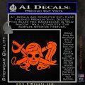 Molly Roger Whip Sword Crossbones Decal Sticker Orange Vinyl Emblem 120x120