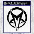 Mudvayne Logo Band Decal Sticker Black Logo Emblem 120x120