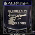 My Other Auto Is 9mm Decal Sticker Silver Vinyl 120x120