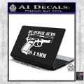 My Other Auto Is 9mm Decal Sticker White Vinyl Laptop 120x120
