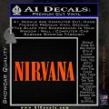 Nirvana Decal Sticker TXT Orange Vinyl Emblem 120x120
