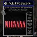 Nirvana Decal Sticker TXT Pink Vinyl Emblem 120x120