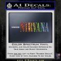 Nirvana Decal Sticker TXT Sparkle Glitter Vinyl 120x120
