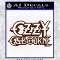 Ozzy Osbourne Decal Sticker BROWN Vinyl 120x120