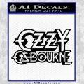 Ozzy Osbourne Decal Sticker Black Vinyl 120x120