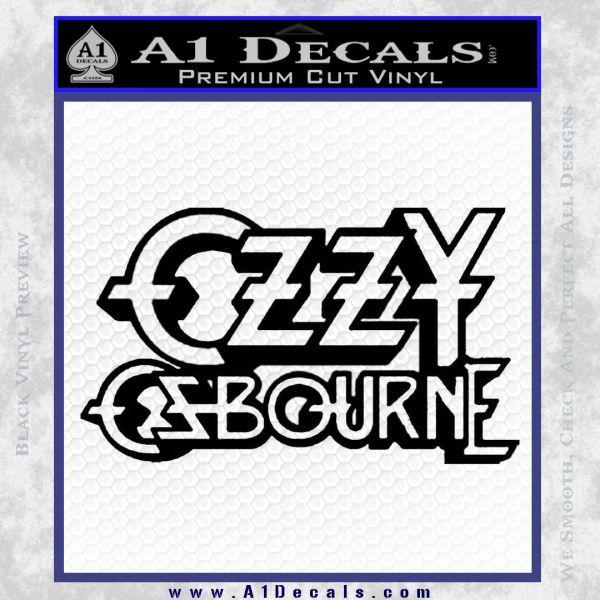 Ozzy Osbourne Decal Sticker Black Vinyl