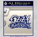 Ozzy Osbourne Decal Sticker Blue Vinyl 120x120