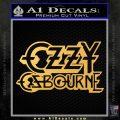 Ozzy Osbourne Decal Sticker Gold Vinyl 120x120