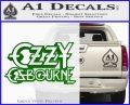 Ozzy Osbourne Decal Sticker Green Vinyl Logo 120x97
