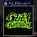 Ozzy Osbourne Decal Sticker Lime Green Vinyl 120x120