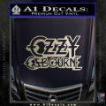 Ozzy Osbourne Decal Sticker Metallic Silver Emblem 120x120