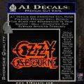 Ozzy Osbourne Decal Sticker Orange Emblem 120x120