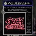 Ozzy Osbourne Decal Sticker Pink Emblem 120x120