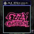 Ozzy Osbourne Decal Sticker Pink Hot Vinyl 120x120