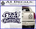 Ozzy Osbourne Decal Sticker PurpleEmblem Logo 120x97
