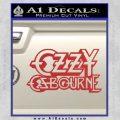 Ozzy Osbourne Decal Sticker Red 120x120