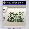 Ozzy OzbourneTXTS Decal Sticker Dark Green Vinyl 120x120