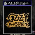Ozzy OzbourneTXTS Decal Sticker Metallic Gold Vinyl 120x120