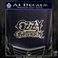 Ozzy OzbourneTXTS Decal Sticker Silver Vinyl 120x120